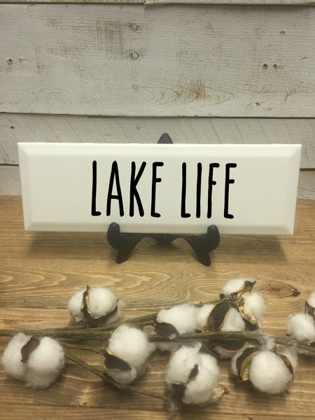Lake Life Sign-Home and Living-Wall Decor-Home Decor-Home Decor Sign