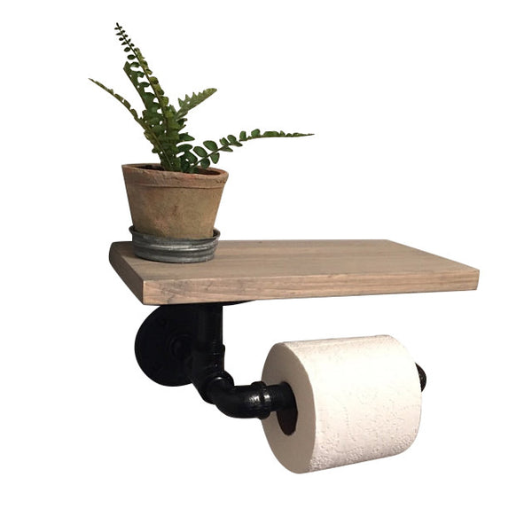 Rustic Toilet Paper Holder-Industrial Toilet Paper Holder