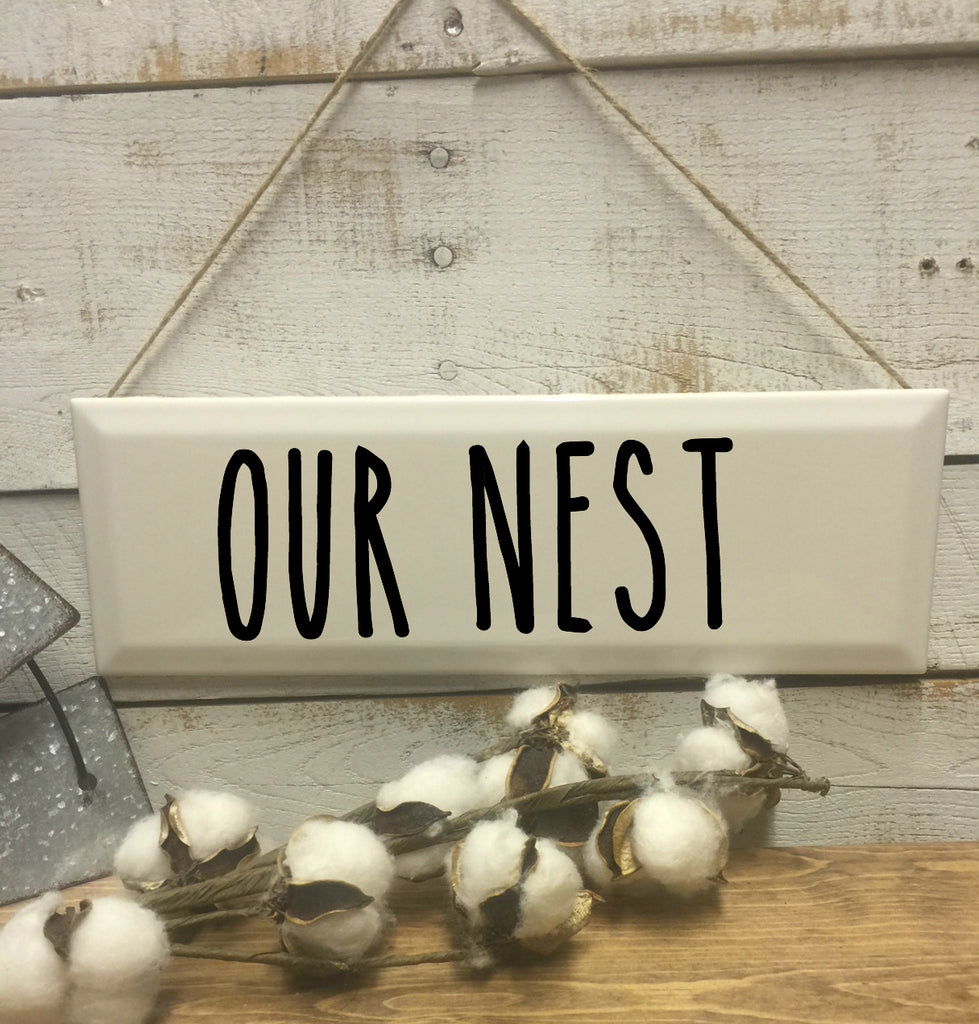 Our Nest Sign-Home and Living-Wall Decor-Home Decor-Home Decor Sign