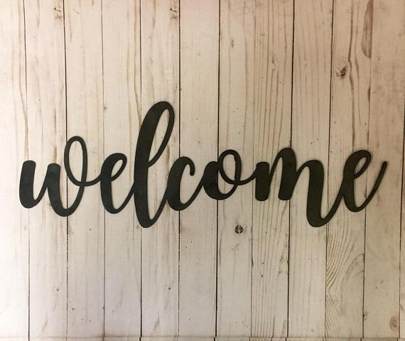 Welcome Sign-Welcome Wood Sign-Rustic Welcome Sign-Welcome-Wood Wall Art