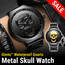 Gimto™ Waterproof Stainless Steel Skull Watch