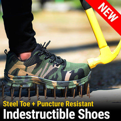 All-Purpose Shoes with Steel Toe and Anti-puncture Sole