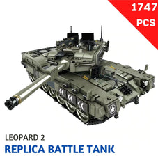 Leopard 2 Replica Battle Tank Block Set - 1747 Pcs