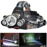 Boruit 9000 Lumen Headlight w/ Bonus Charger, Car Charger & Rechargeable Batteries
