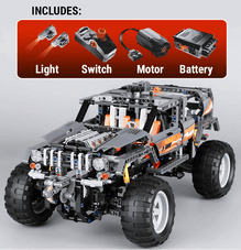 1132 pc [2-in-1] Off Roader/Buggy 4x4 Block Set w/ working Motor + Lights