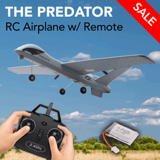 The Predator 2 Channel 2.4 RC Airplane w/ Remote + Built-in Gyro