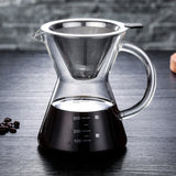 Pourex™ 400ml Pour Over Coffee Manual Drip Coffee Maker with Reusable Stainless Steel Paperless Filter