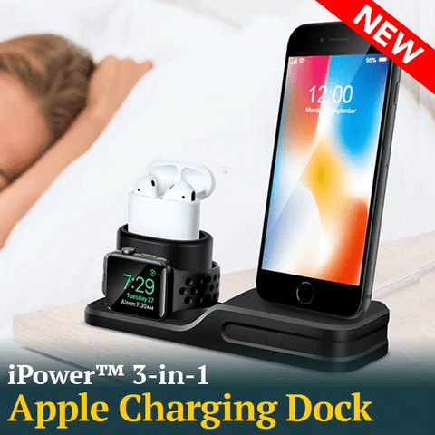 3 in 1 Charging Dock Holder for your iPhone, iWatch and AirPods