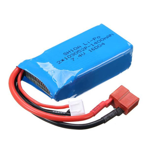 Replacement RC Car Battery 7.4V 1400MAh Model A959