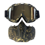 Optimus™ Motorcycle Face Mask & Visor Goggles