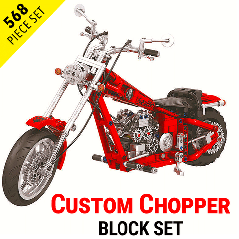 568pc Chopper Motorcycle Model Set