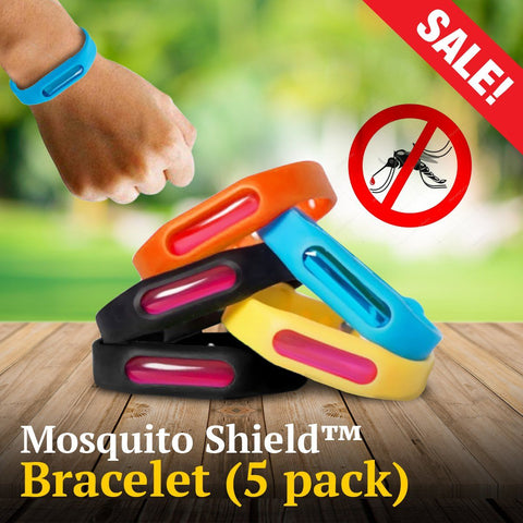 Mosquito Shield™ All Natural Insect Repellent Bracelet (5 pack)