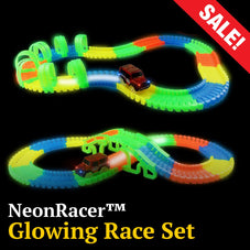 NeonRacer™ Glow In the Dark Race Set