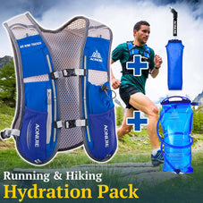 Running & Hiking Backpack w/ Hydration Pack & Water Bottle