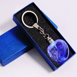 Custom Laser Engraved Crystal Keychain - Makes a Great Gift