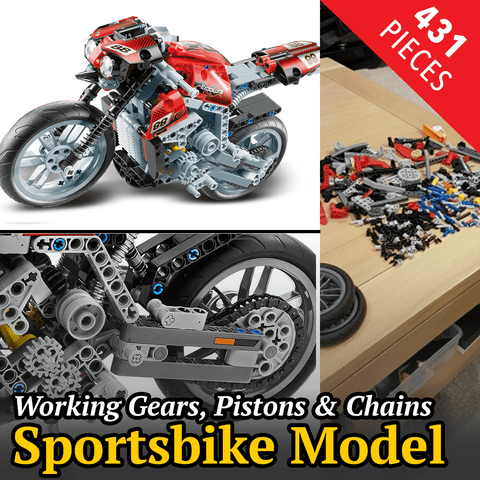 431 pc Sportsbike Block Set