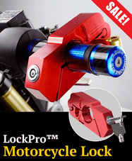 LockPro™ Motorcycle handlebar lock