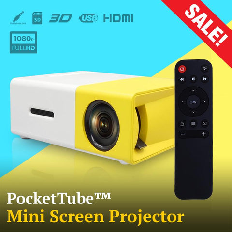 PocketTube™ Mini Screen Projector