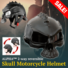 ALPHA™ 2-way Reversible Matte Black Motorcycle Helmet [LIMITED EDITION]