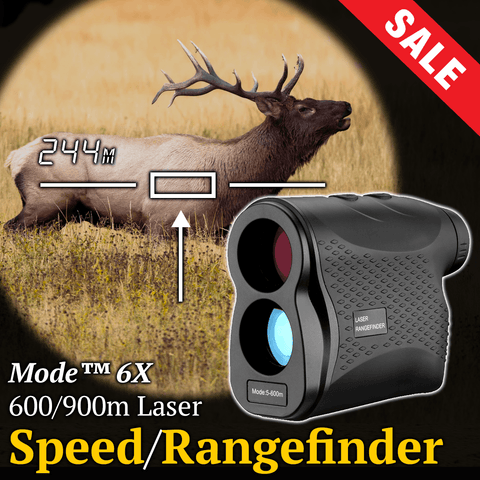 Mode™ 600/900/1200/1500m Laser Rangefinder - Measures Distance & Speed (6x zoom)
