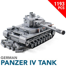 Panzer IV Tank Building Block Set - 1193pcs