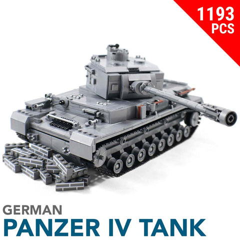 Panzer IV Tank Building Block Set - 1193pcs – HobbyCrafts