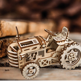 136 PC DIY 3D Wood Tractor Model with Gear Drive