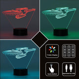U.S.S Enterprise 3D LED Lamp