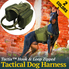 Tactix™ Dog Harness with Detachable Pouches