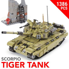 Scorpio Tiger Tank Building Blocks Set - 1386pcs