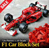 1:10 Scale F1 Car Block Set - 726 Pieces