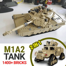 M1A2 Tank 2-in-1 HumVee Brick Set