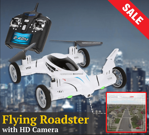 The Flying Roadster™ RC Quadcopter Drone Car (with or without HD Camera)
