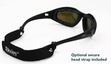 POLARIZED SHATTERPROOF/WINDPROOF SUNGLASSES WITH 4 INTERCHANGABLE LENSES