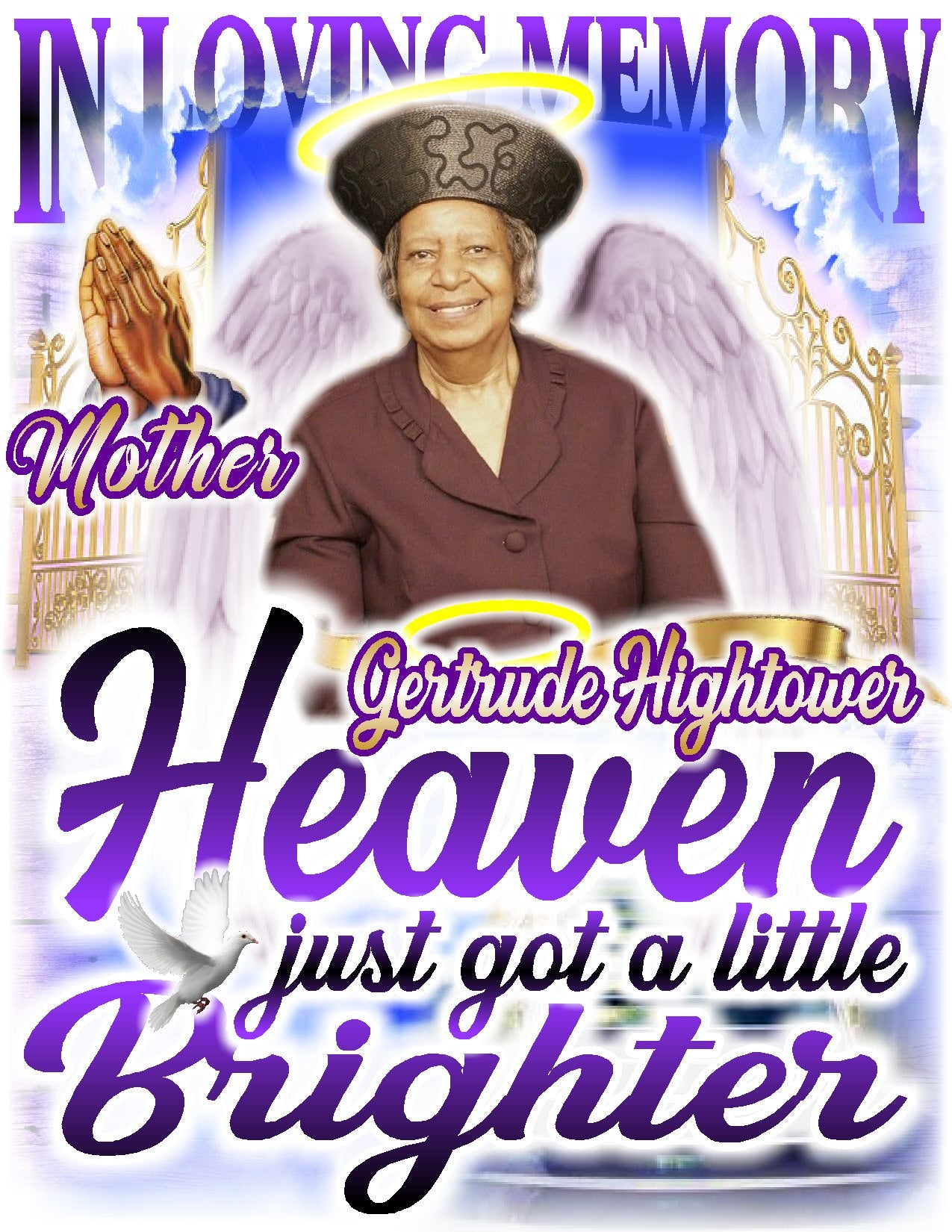 Heaven Just Got A Little Brighter - Loving Memory Store