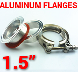 1.5 inch Aluminum Flanges with 304 Stainless Steel V-Band Clamp Kit