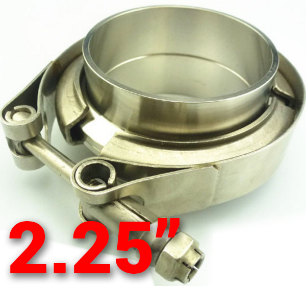 2.25 inch 304 Stainless Steel V-Band Flange with Clamp Kit