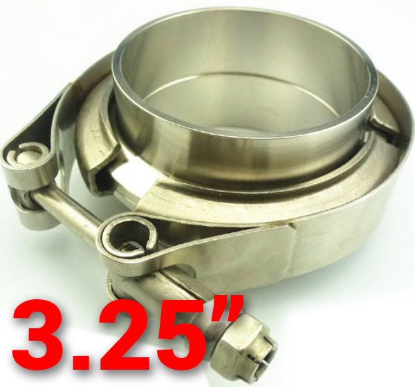 3.25 inch 304 Stainless Steel V-Band Flange with Clamp Kit