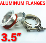 3.5 inch Aluminum Flanges with 304 Stainless Steel V-Band Clamp Kit