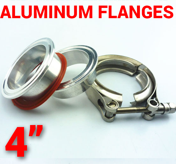 4 inch Aluminum Flanges with 304 Stainless Steel V-Band Clamp Kit