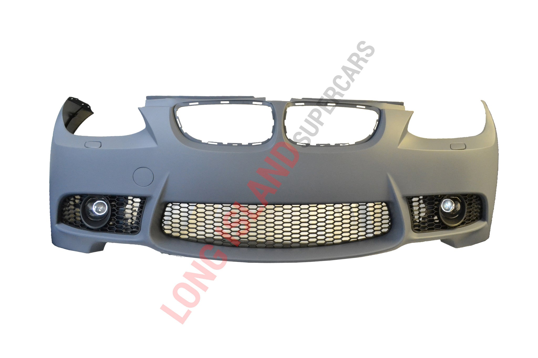 E92 BMW M3 Front Bumper Conversion with Fog Lights and lower grilles (Without PDC sensor holes) - Fits 2 Door 2007-2010 BMW 335i 335xi 328i 328xi