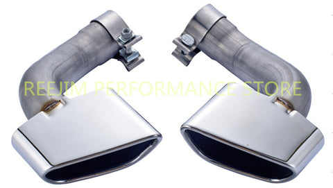 Straight Pipe Exhaust Tips for 2010-2013 BMW E70 X5 (Muffler Delete)