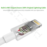 Lightning to USB A Cable - Apple MFi Certified - White - 3 Feet / 1 Meters - Empire Accessories Inc