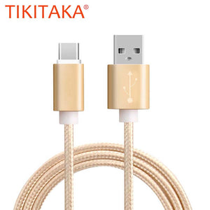 Top Quality 100CM USB Type C Cable Colorful Nylon Line and Metal Plug Type-C USB - Empire Accessories Inc