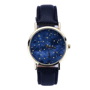 Watch Romantic Night Star Pattern Leather Analog Quartz Wrist FREE SHIPPING - Empire Accessories Inc
