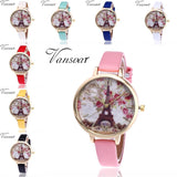 Ladies Watches Elegant Quartz Wrist Watch Women Faux Leather Strap FREE SHIPPING - Empire Accessories Inc