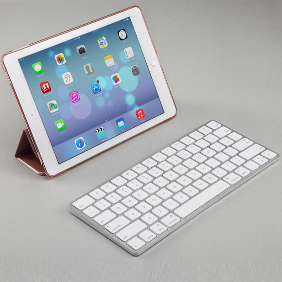 Universal Wireless / Wired Aluminum Keyboard, for All, iOS(Mac), - Empire Accessories Inc