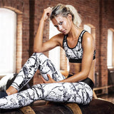 2PCS  Women's PUSH UP Sport Wear Vest Tank Top and Long Leggings Outfit Yoga Set FREE SHIPPING - Empire Accessories Inc