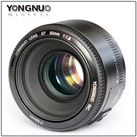 New coming Yongnuo EF YN 50mm F/1.8 1:1.8 Standard Prime Lens for Canon 5D, 7D, 60D, 70D, T3, T3i, T5, T5i,700D,650D,600D - Empire Accessories Inc