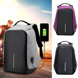 Anti-theft Backpack With USB Charge Port Concealed Zippers  Lightweight Waterproof - Empire Accessories Inc